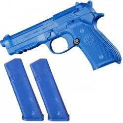 Training Gun W/ Removable Mags - Beretta 92/96 Blue