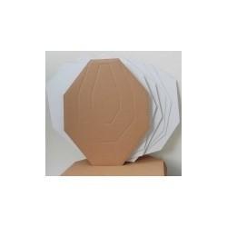 IPSC Cardboard targets white back