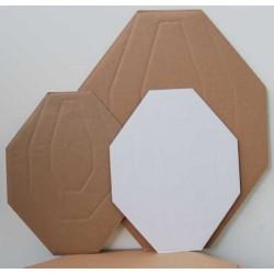 IPSC Miniature Cardboard targets white back