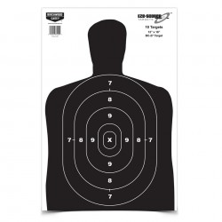 "Birchwood Eze-Scorer 12 x 18"" BC27 Paper Target"""