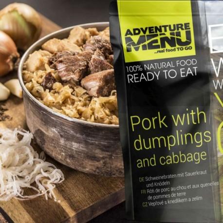 AventureMenu Pork With Dumplings And Cabbage