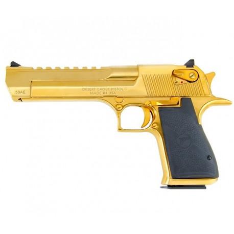 """Magnum Research Desert Eagle Gold 6"""" Titanium .50 AE"""