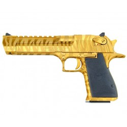 "Magnum Research Desert Eagle Tiger Stripe 6"" Gold .50 AE"