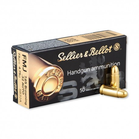 Sellier & Bellot .32 Auto (7.65mm) 73gr FMJ