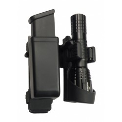 Double Swivelling MOLLE Holster For Magazine And Flashlight