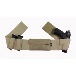 Belly Band Elastic Gun Holster Tan L