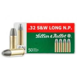 Sellier & Bellot .32 S&W Long  100gr LRN 50uni